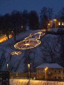 Šviesos paveikslas Kauno miestui